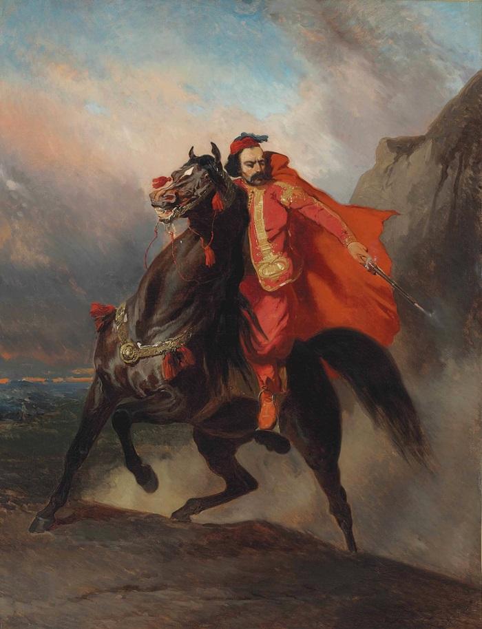 Оттоманский воин на коне