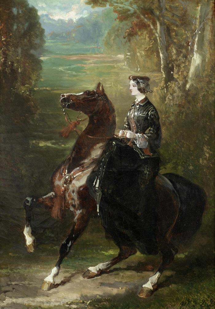 Хозяйка замка на лошади