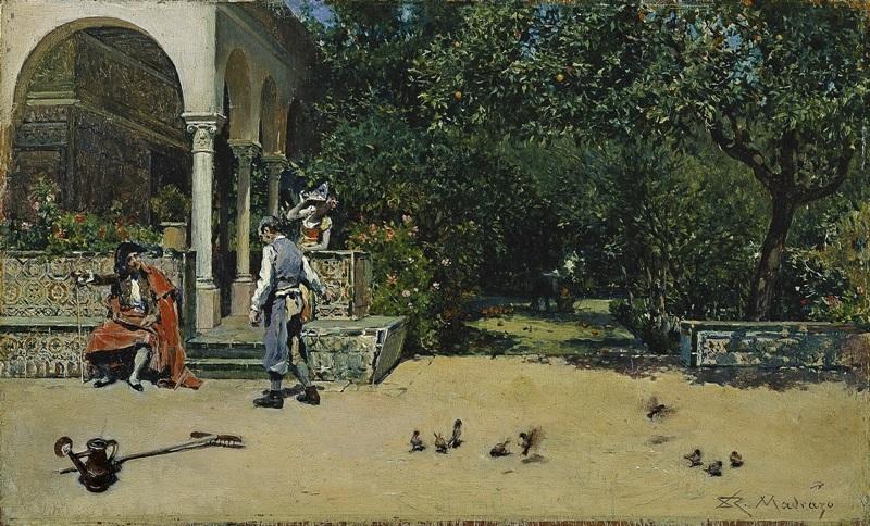 Павильон Карла V в садах Алькасара в Севильи