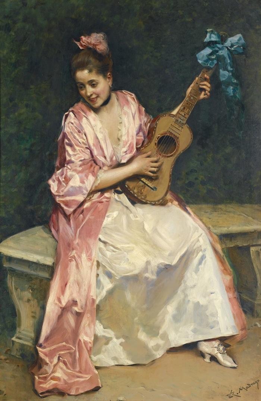 Алина Масон с гитарой