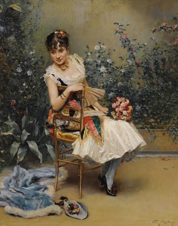 Алина Масон с цветами