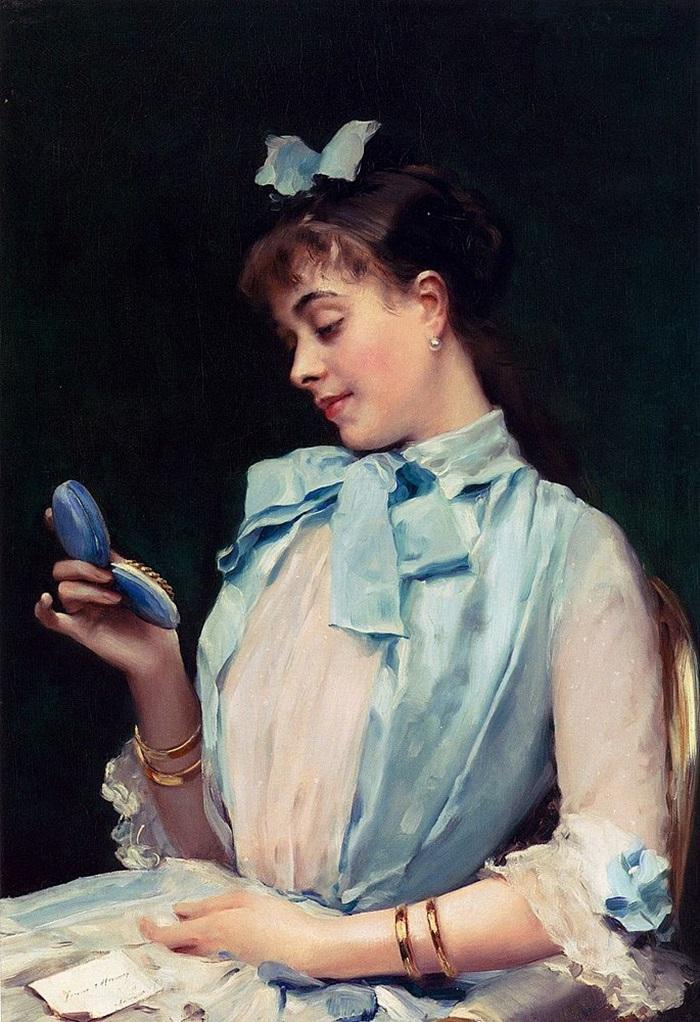 Портрет Алины Масон в голубом