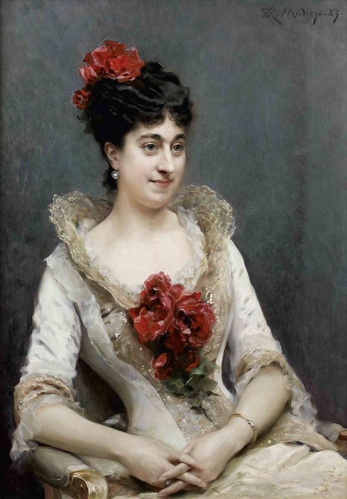 Портрет дамы в розовом