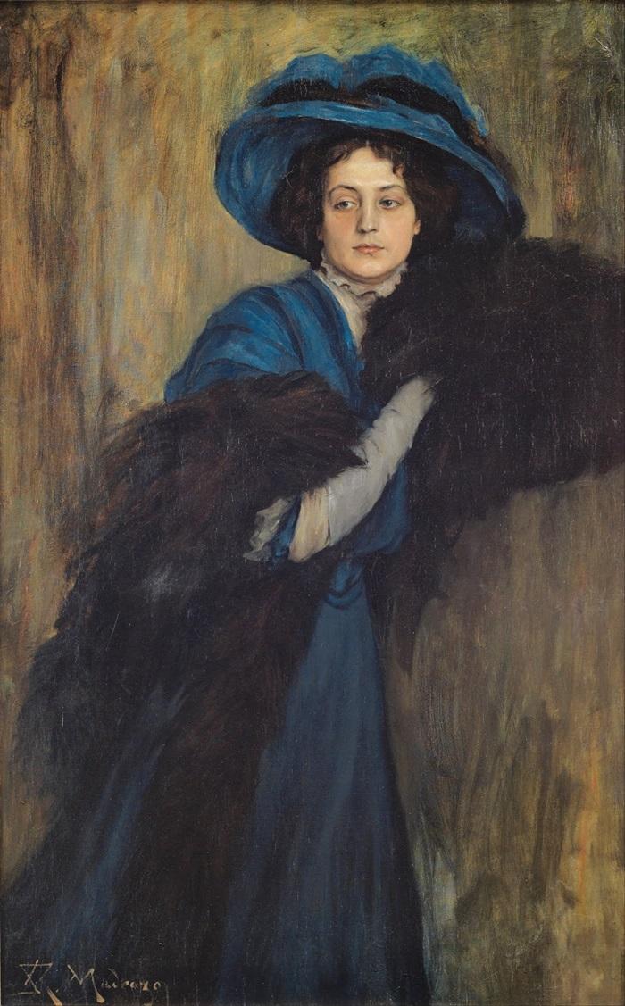Портрет дамы в синем