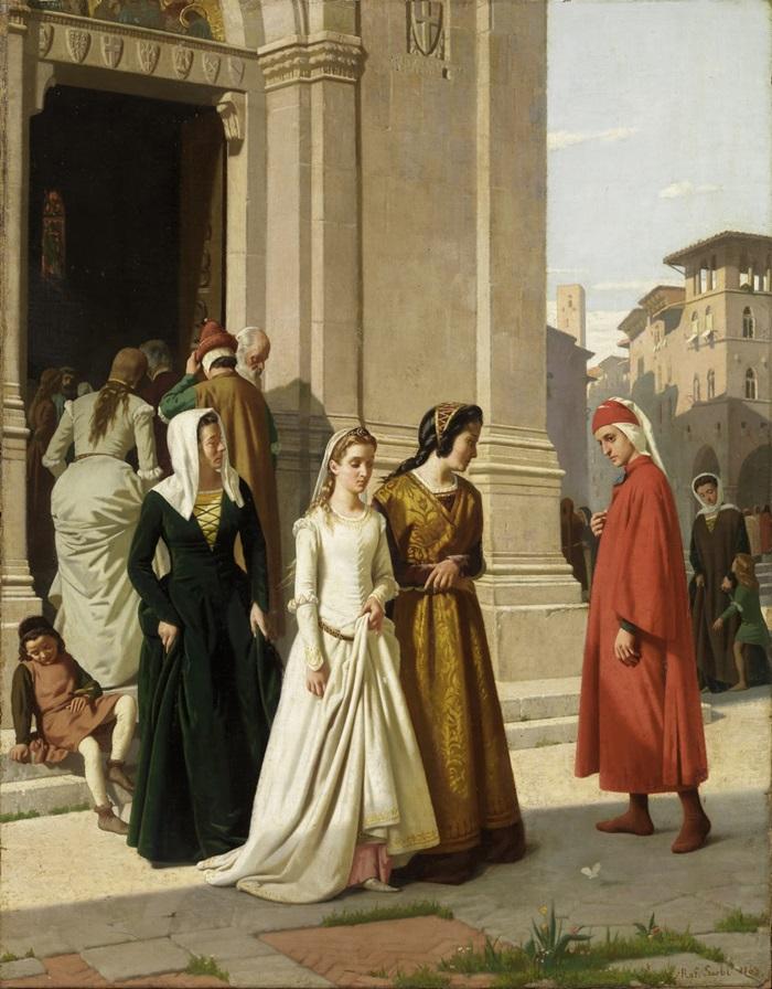 Встреча Данте с Беатриче Портинари в 1274 году