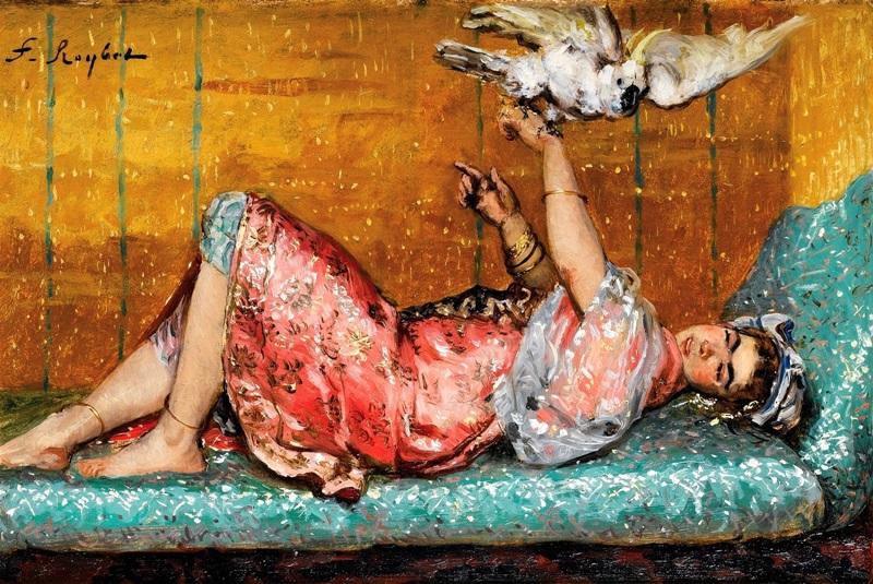 Молодая женщина с какаду