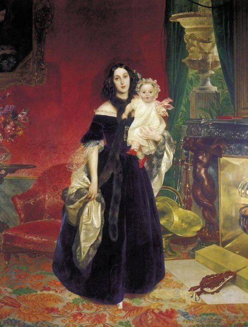 Портрет Марии Аркадьевны Бек с дочерью Марией.