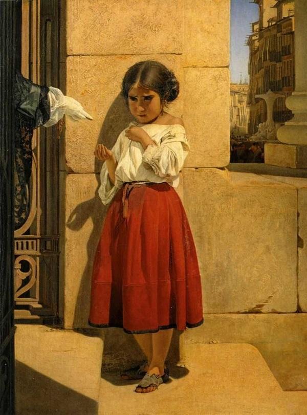Нищая девочка-испанка