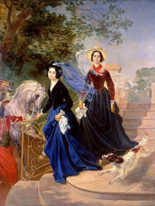 Портрет сестер А. А. и О. А. Шишмарёвых.