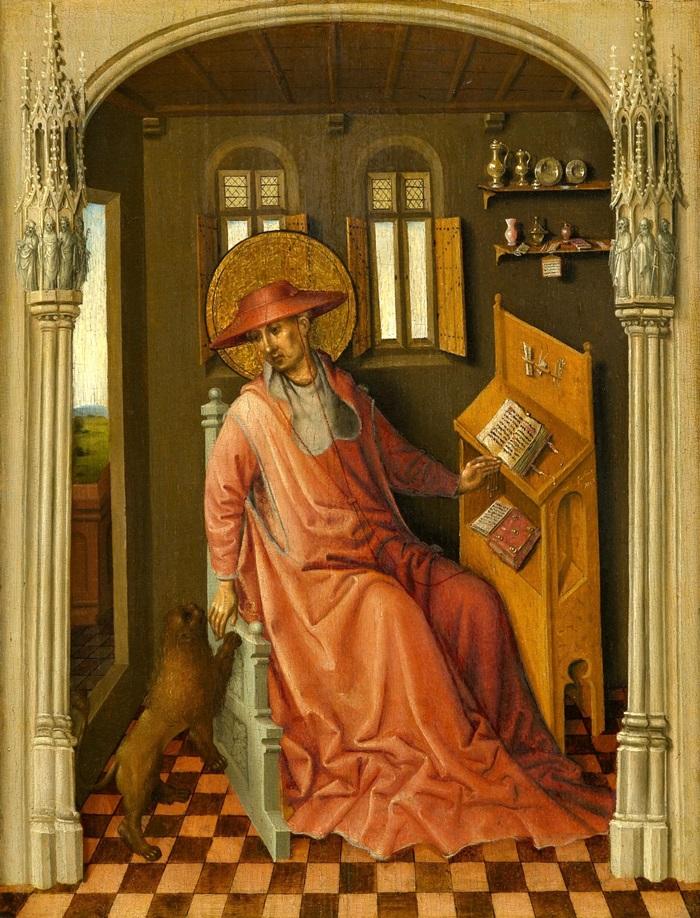 Святой Иероним в келье (Saint Jerome in his Study)_ок.1440_39.4 х 30.5_д.,м._Роли, Художественный музей Северной Каролины