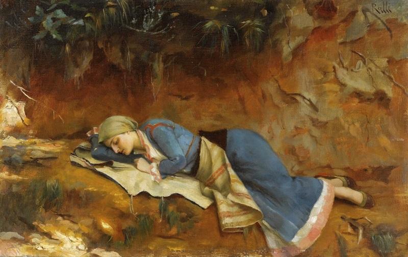 Отдыхающая греческая девушка