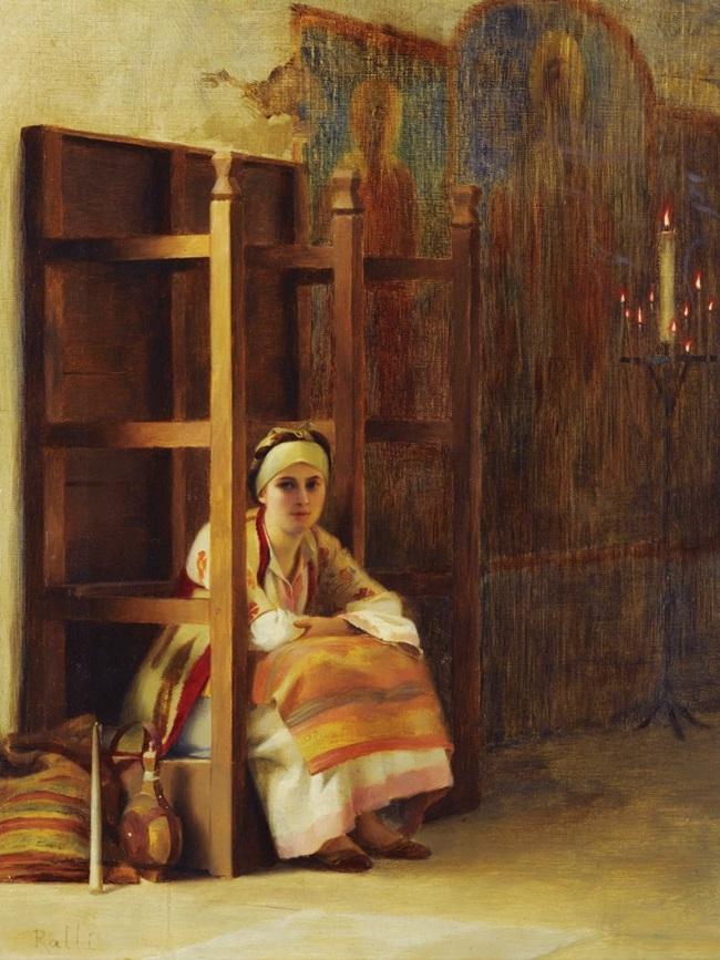 Девушка в греческой церкви
