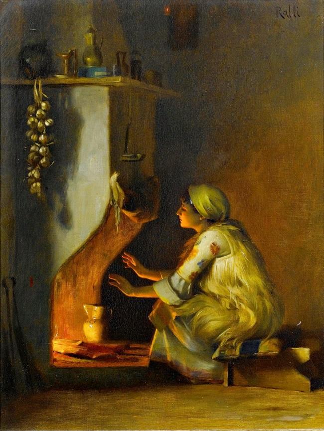 Девушка у огня