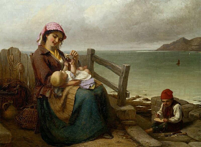 Мать и дитя у моря