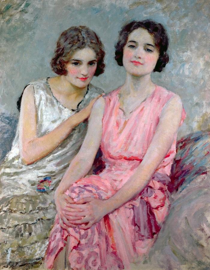 Две сидящих женщины