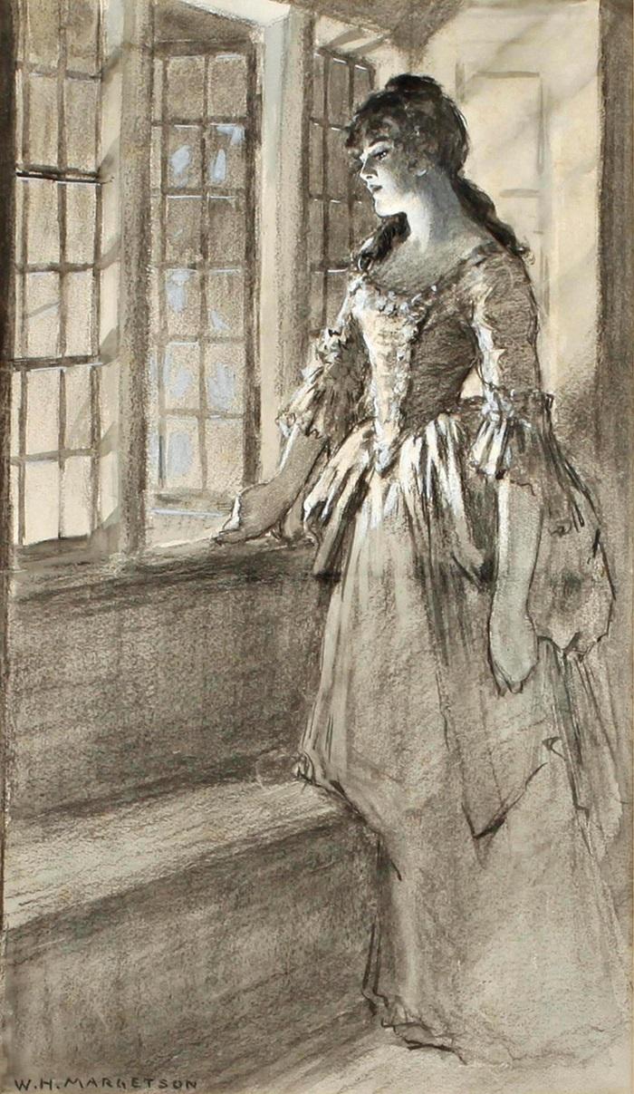Портрет женщины у открытого окна