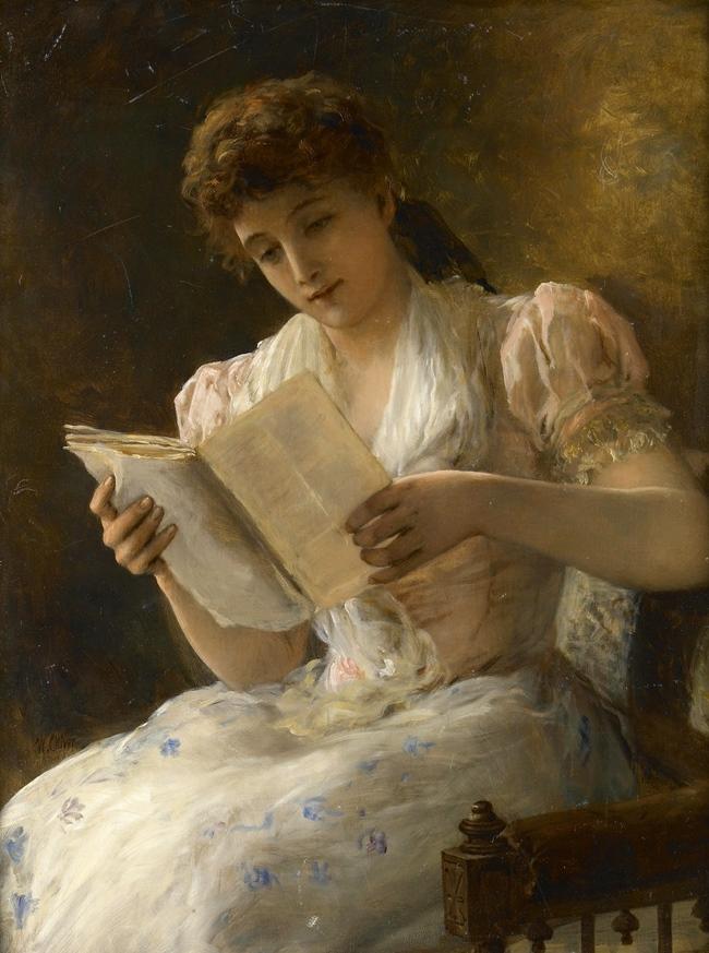 Портрет дамы, читающей книгу