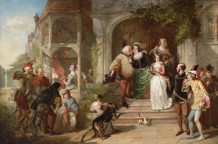 Сцена из комедии Шекспира Виндзорские насмешницы