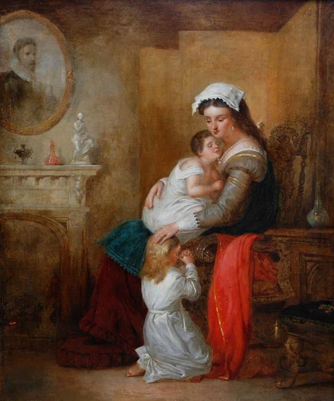 Мать с ребеном в интерьере