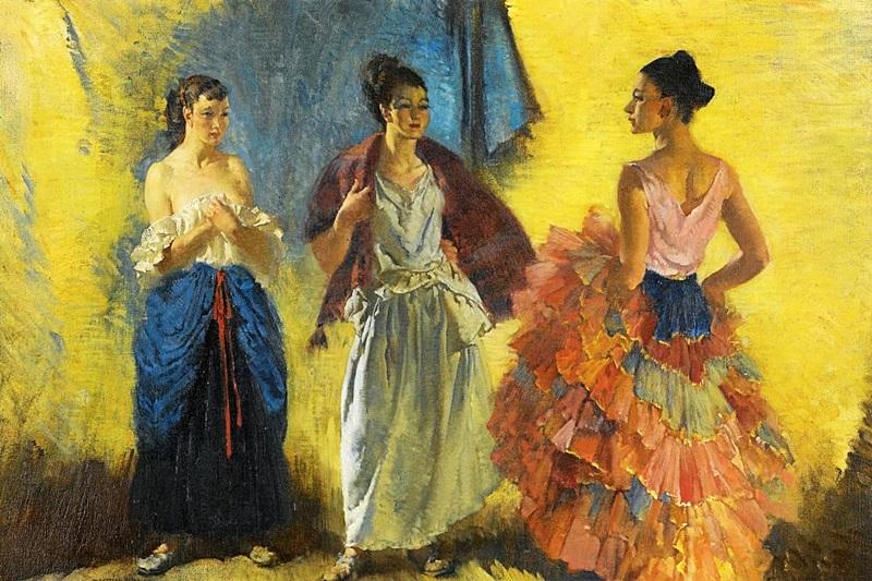 Две модели и танцовщица