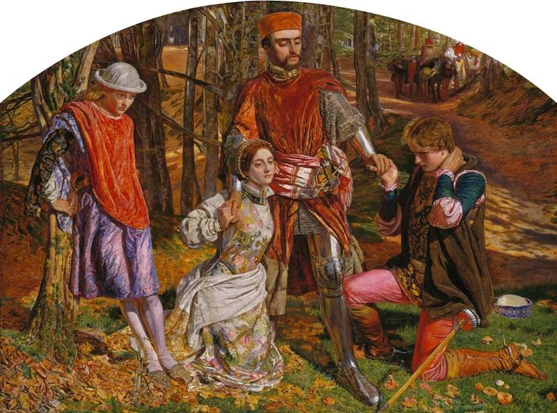 Валентин спасает Сильвию от Протея