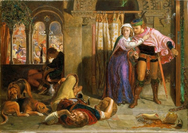 Полет Маделин и Порфиро, посещающих попойку накануне дня святой Агнессы