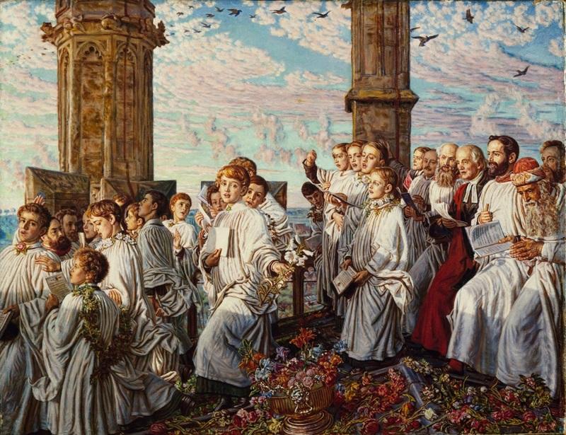 Церемония встречи месяца мая в колледже Магдалины в Оксфорде
