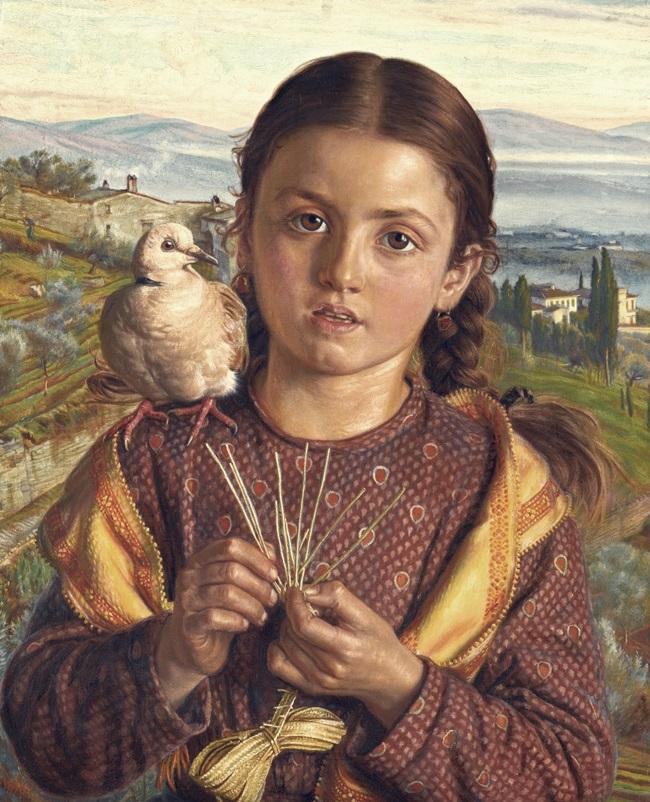 Тосканская девушка, плетущая солому
