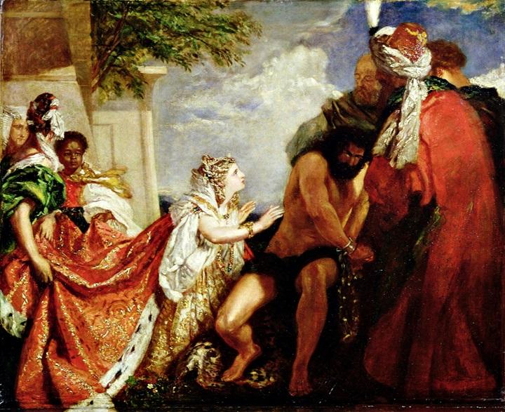 Далила перед слепым Самсоном