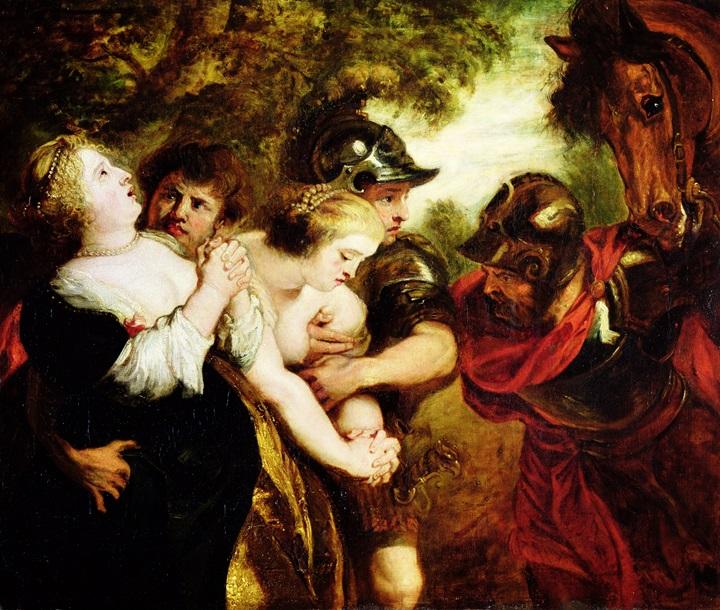 Похищение сабинянок, по Рубенсу