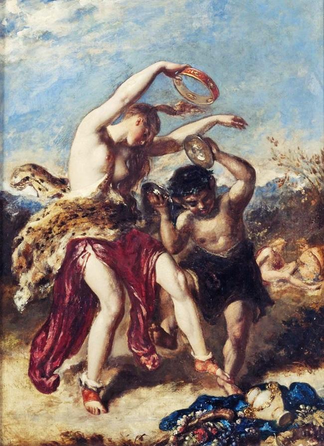 Нимфа, танцующая с фавном