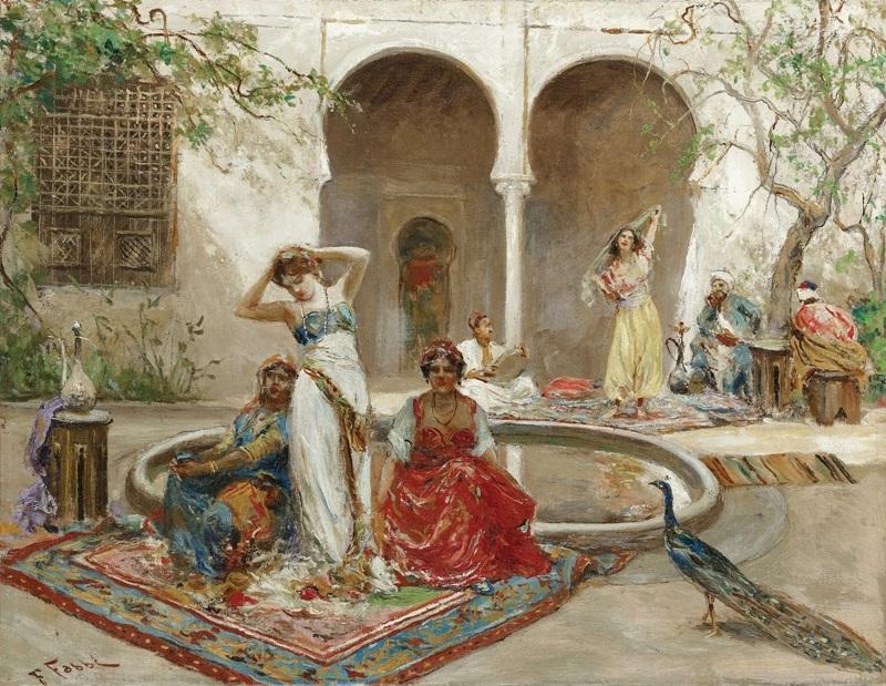 Танец во внутреннем дворе гарема