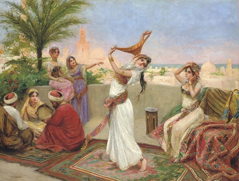 Танец ракс беледи на террасе, Египет