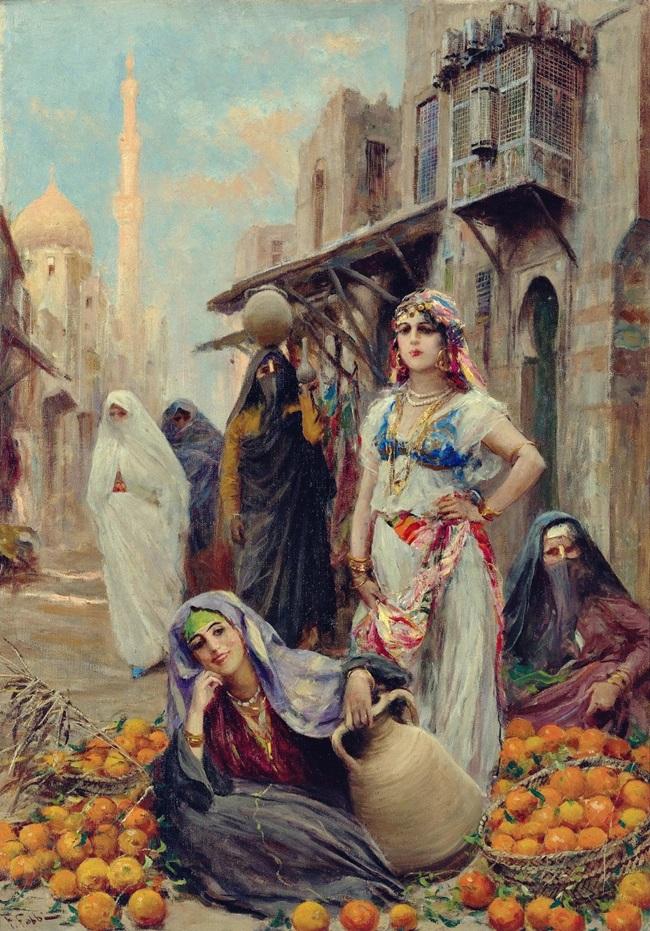 Продавщица апельсинов