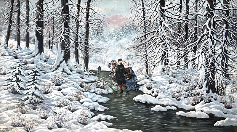 В зимнем лесу.