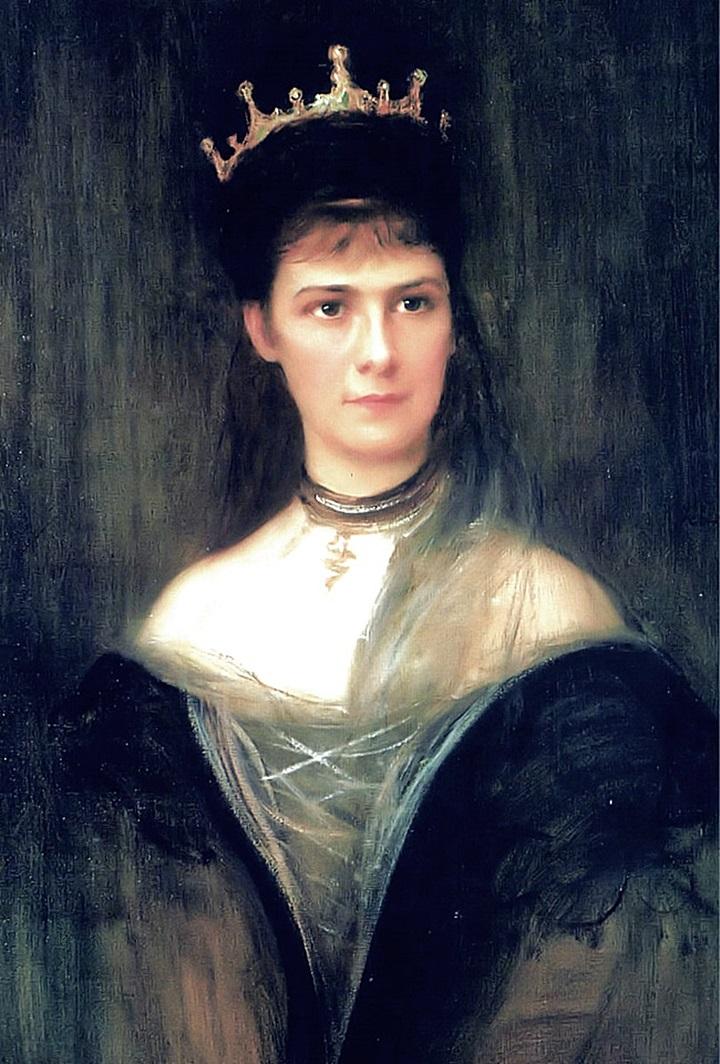 Имп-ца Елизавета Австрийская, королева Венгрии и Богемии в трауре