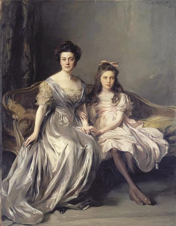 Портрет дамы с дочерью (Портрет Ани и Лани)