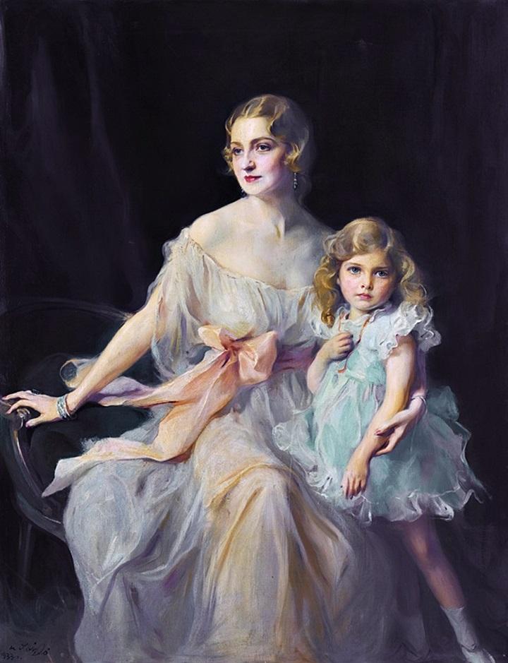 Портрет миссис Клод Ли и мисс Вирджинии Ли