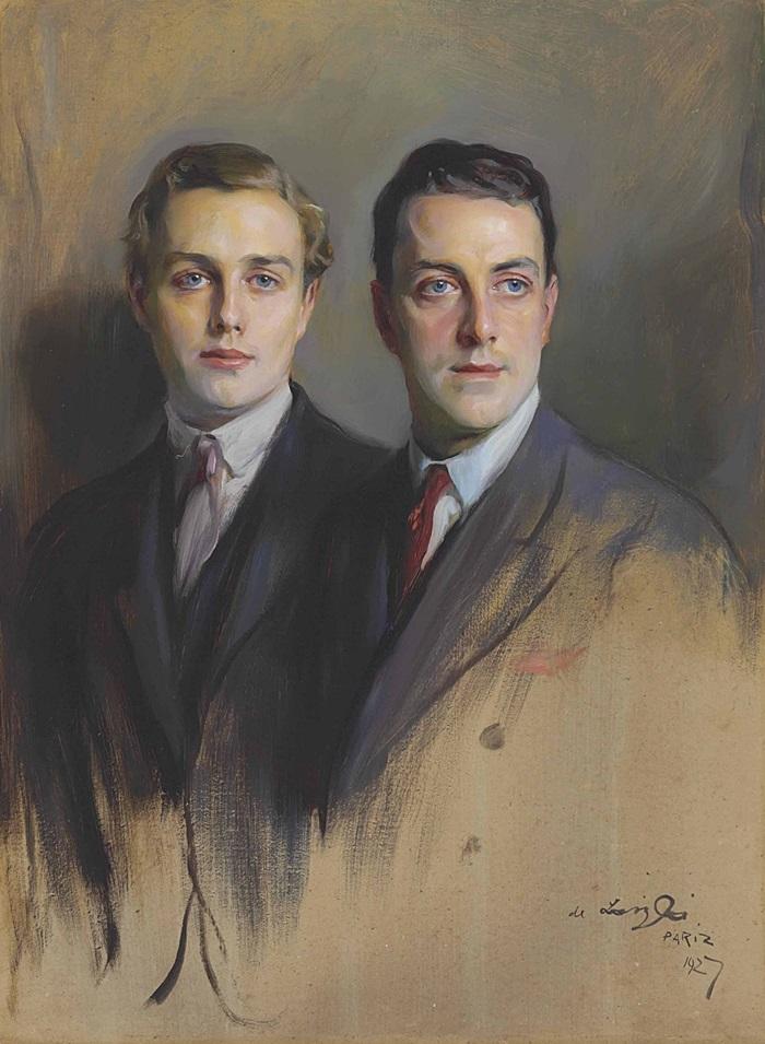 Двойной портрет, Реджинальд Райт и Джон Брэди Райт, его пасынок