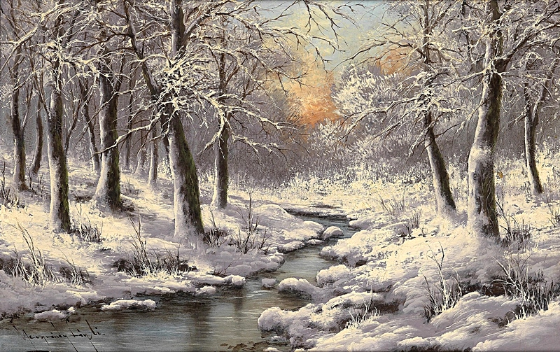 Зимний лес.
