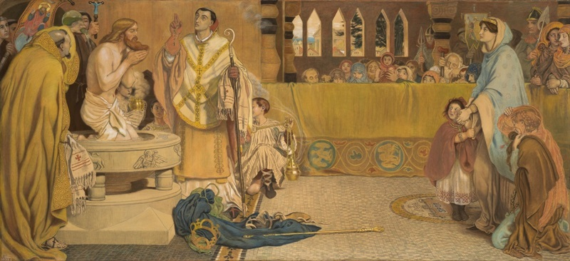 Крещение Эдвина, короля Нортумбрии