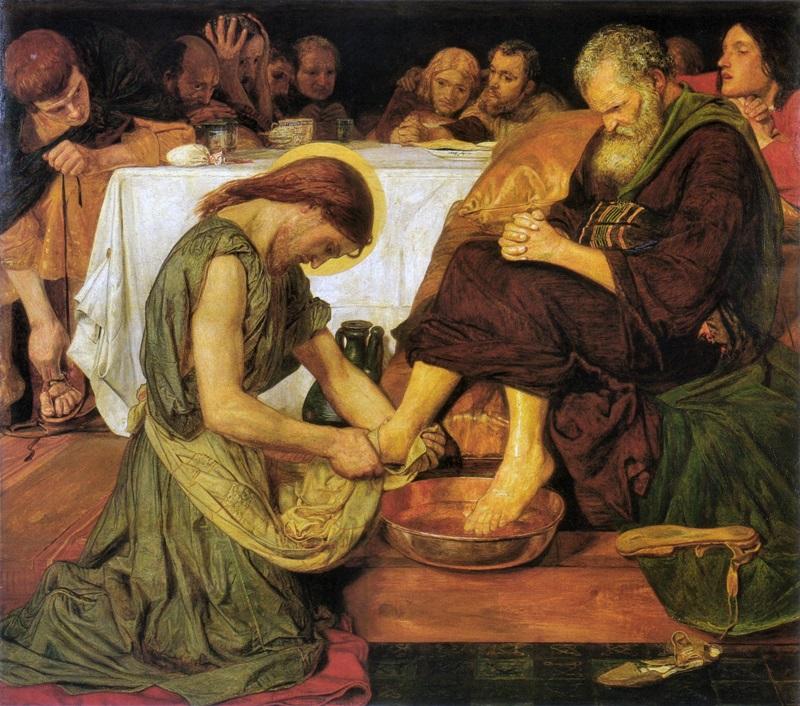 Христос, умывающий ноги апостолу Петру