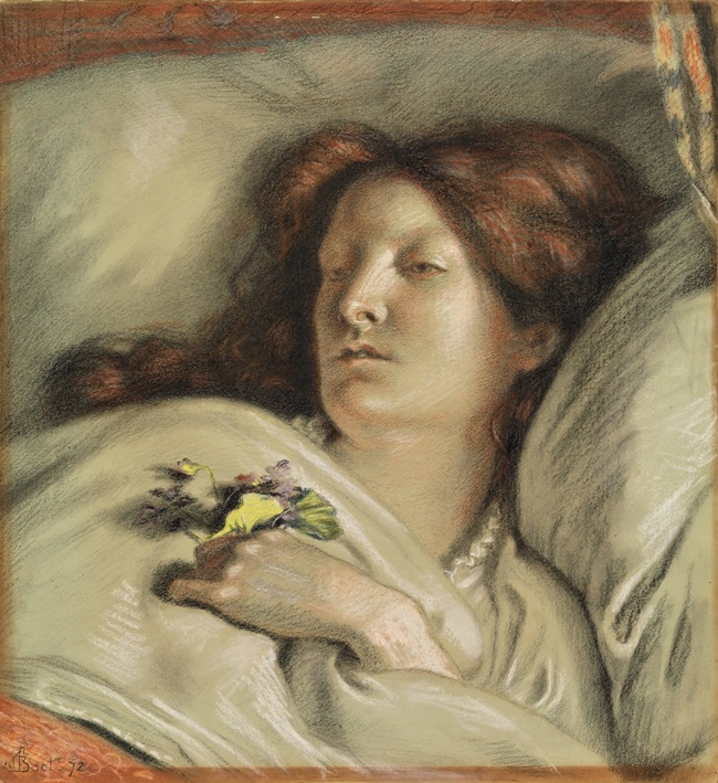 Выздоравливающая (Портрет жены художника)