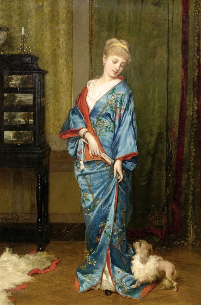 Дама в кимоно
