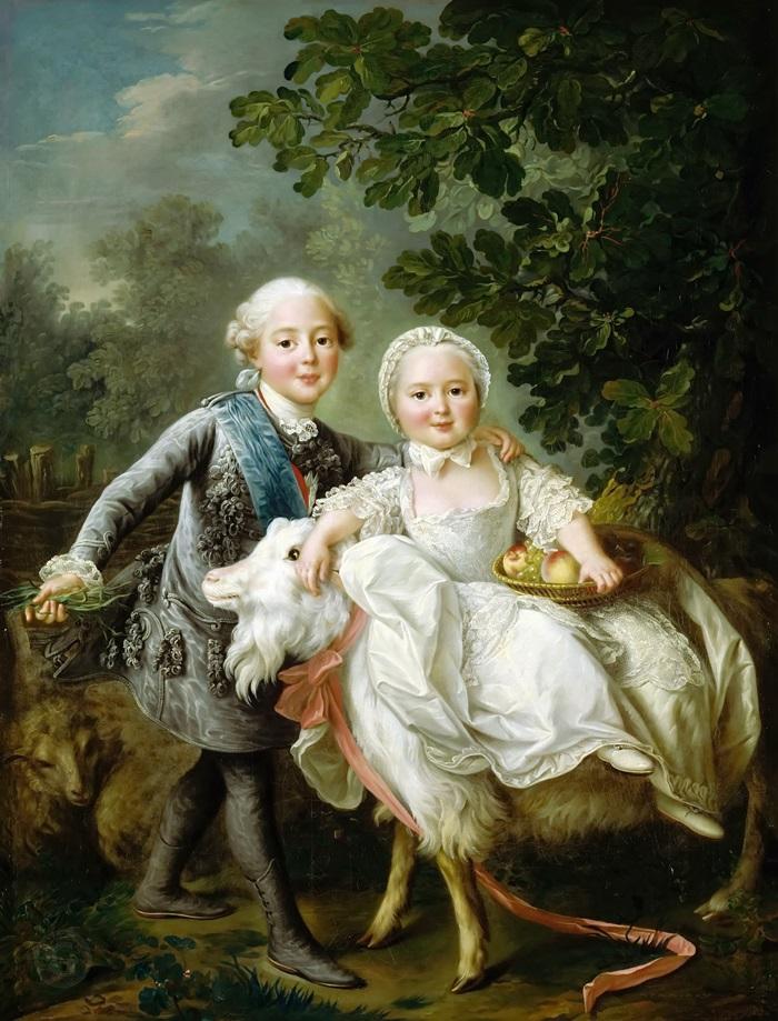 Граф Артуа и Клотильда Французская