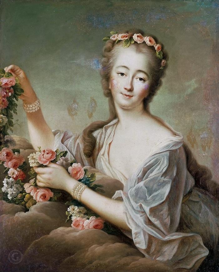 Графиня дю Барри (1743-1793), в образе Флоры