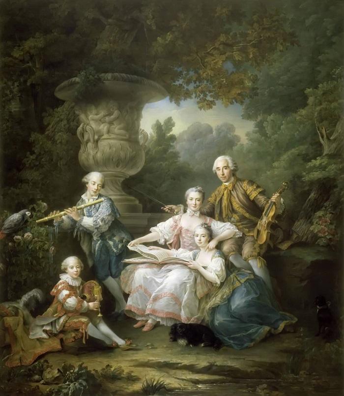 Ив-Мари дю Буше, граф де Монсоро, с семьей