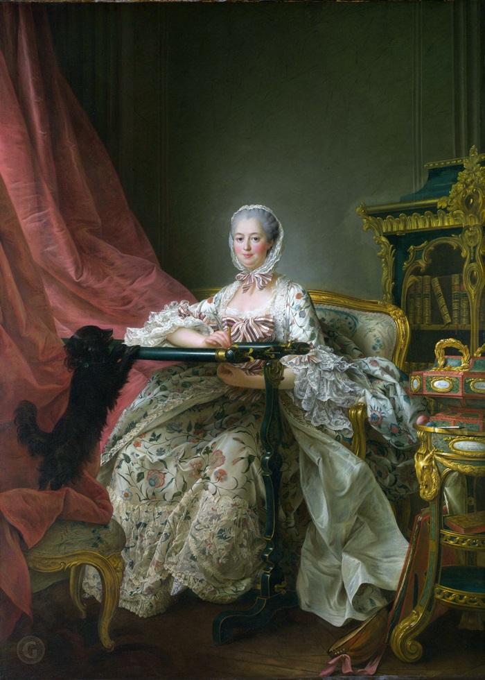 Мадам де Помпадур за рамкой для вышивания