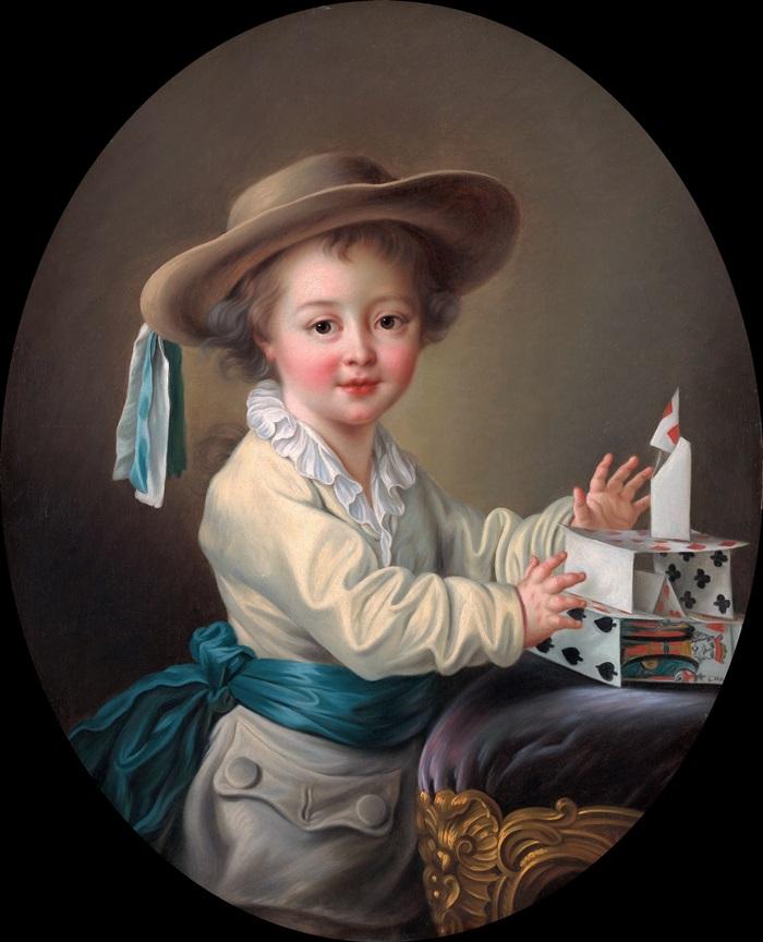 Мальчик с карточным домиком
