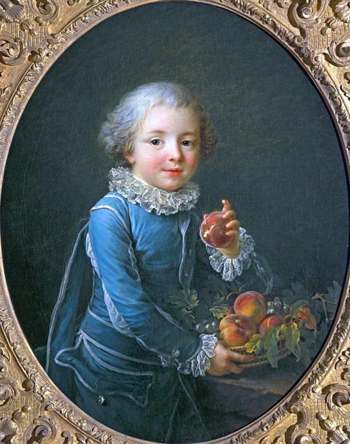 Мальчик с персиками